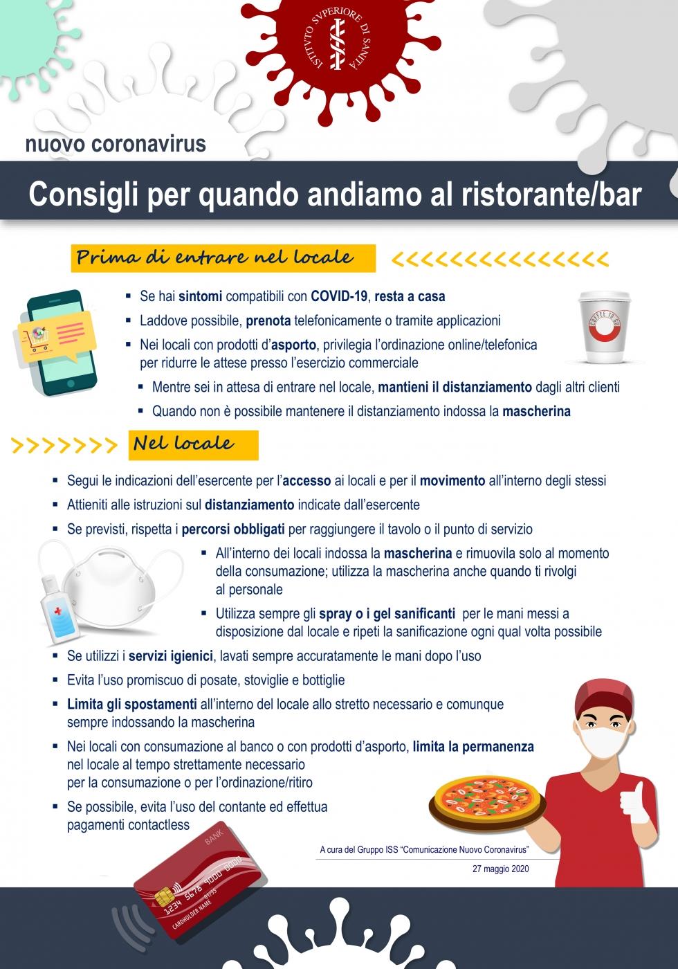 Istituto Superiore Sanita Covid 19 E Ristorazione Come Comportarsi Al Bar O Al Ristorante Alimenti Salute
